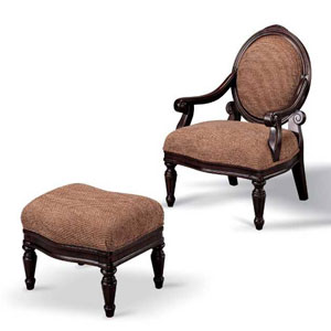 Accent Chair And Ottoman 900021 (CO)