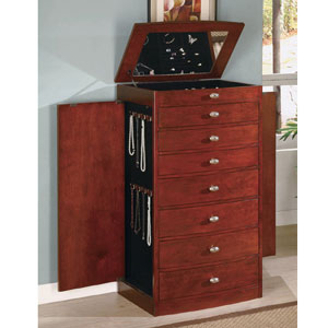 Jewelry Armoire in Cherry 900105(CO)