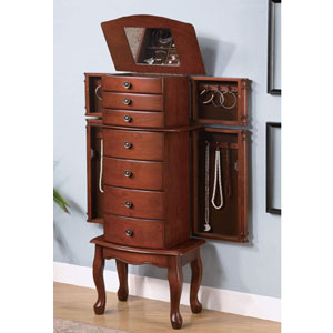 Jewelry Armoire in Warm Brown 900125(COFS50)