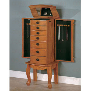 Coaster Oak Finish Jewelry Armoire 900135(COFS20)