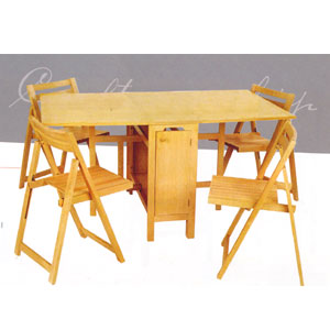 5-Pcs Folding Table And Chairs 901_(LNFS110)