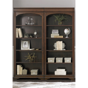 Brown Cherry Bunching 5-Shelf Bookcase 901-HO201