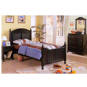 Black Rust Twin Bed F9020 (PX)