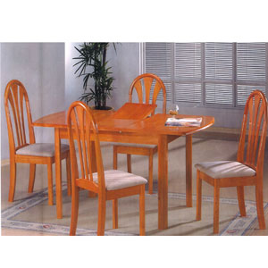 5 Pcs. Oak Finish Dinette Set 903(P)