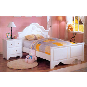 Daisy White Twin Bed F9073 (PX)