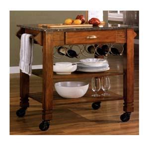 Granite Top Kitchen Cart 910009 (CO)