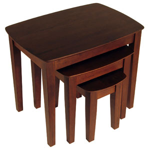 3-Pc Antique Walnut Nested Table Set 94327 (WSWFS)