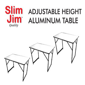 Slim Jim Aluminum Adjustable Height Folding Table AT-101-S2(