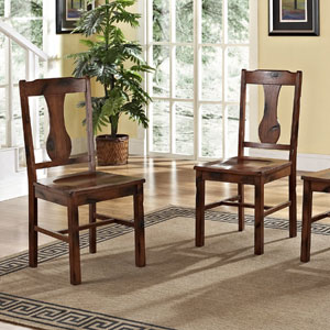 Solid Wood Dining Chairs Set of 2AZHM2CNO(AZFS)