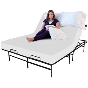 Adjustable Platform Metal Bed Foundation 2000 lbs Wt Capacit