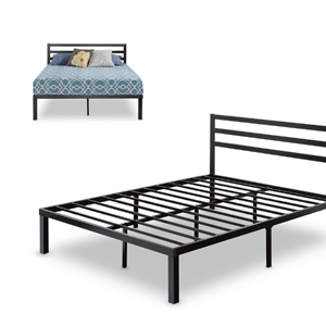 Quick Lock Metal Platform Bed Frame with Headboard