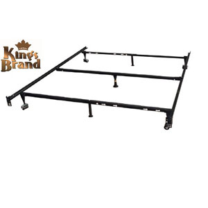 7-Leg Heavy Duty Adjustable Metal Queen Size Bed Frame B9003