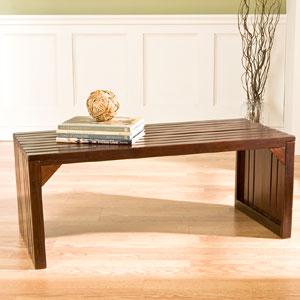 Espresso Slat Bench/Coffee Table BC9229 (SEIFS)