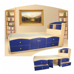 Storage Bed With Bookcase Headboard B-2(CT)