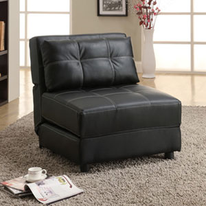 Black Accent Lounge Chair/ Sofa Bed 300173(OFS)