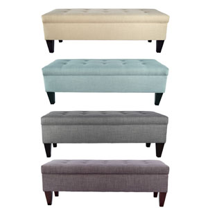 Upholstered Long Storage Bench Ottoman (OFS)