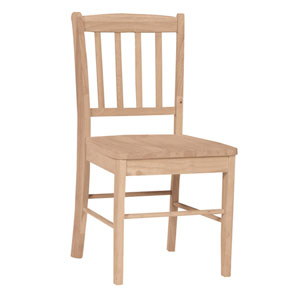 Unfinished Capri Slat Back Chair C-35P (IC)