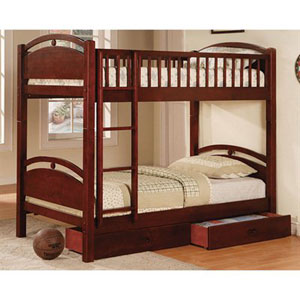 Solid Pine Twin/Twin Convertible Bunk Bed CM-BK600_(IEM)