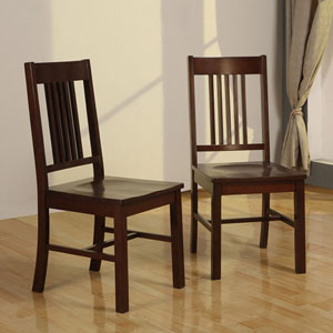 Cappuccino Wood Dining Chairs (Set of 2) CH101(OFS)
