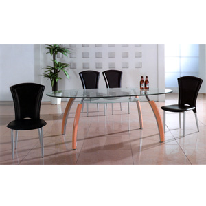 Glass Top Oval Dining Table DT318 (PK)