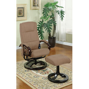 2-Pc Microfiber Plush Massage Recliner Set F7073 (PX)