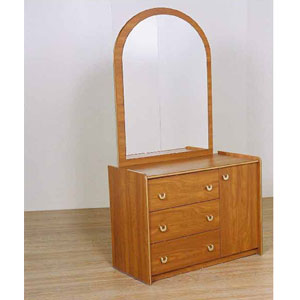 3-Drawer Chest With Door And Mirror G-30 (CT)