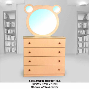 4-Drawer Chest G-4(CT)