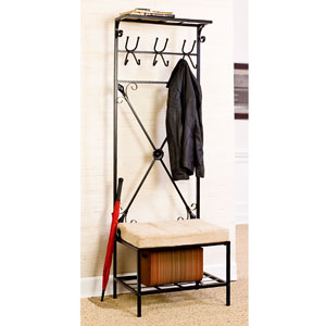 Entryway Coat Rack with Bench Seat HP3191 (SEIFS)