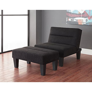 Kebo Chair and Ottoman In Black 21266195(WFS)