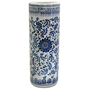 Porcelain 24-inch Blue and White Umbrella Stand 13435022(OFS