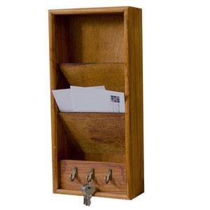 Home Basics Pine Letter Rack with Hooks LR01128(AZFS)