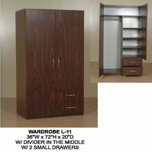 2-Door and 2-Drawer Wardrobe L-11(CT)