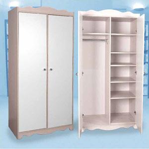 2-Door Wardrobe With Divider L-15(CT)
