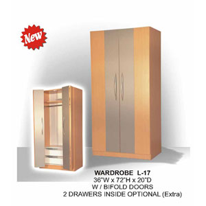 Wardrobe With Bifold Doors L-17(CT)