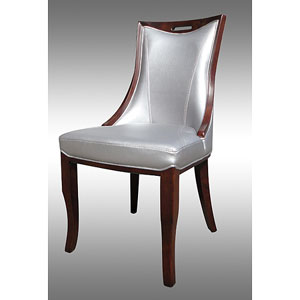 Lexington Silver Leather Dining Chairs (Set of 2) c778-872(O