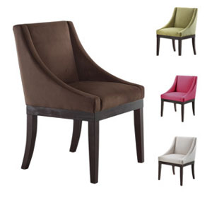 Velvet Solid Wood Legs Wingback Chair MNA(OFS)