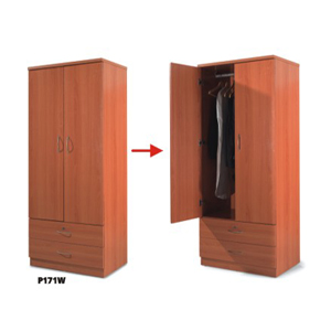 2 Drawer And 2 Doors Closet  B171W(PK)