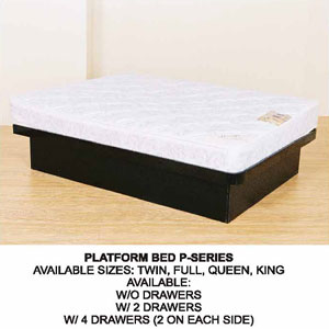 All Size Platform Bed With Or Without Drawers P-(CT)
