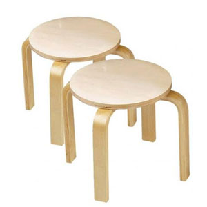 Solid Wood (Set Of Two) Sitting Stools ST5004(AZFS)