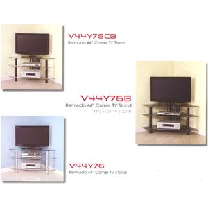 Bermuda Corner Glass TV Stand V44Y76(WE)