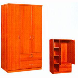 3 Door Wardrobe WD-133(CR)