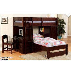 Harford Twin/Twin Junior Loft Bed CM-BK529_(IEM)