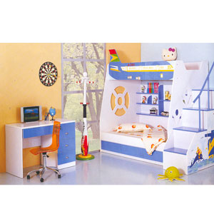 Twin/Full Airplane Design Bunk Bed C16(PF)