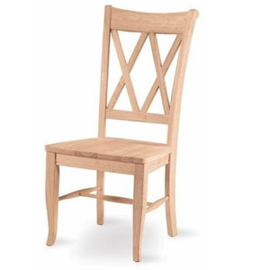 Solidwood Double X-Back Chair C-20P (IC)