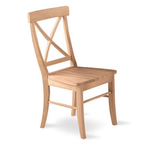Solid Wood X-Back Chair C-613P (IC)