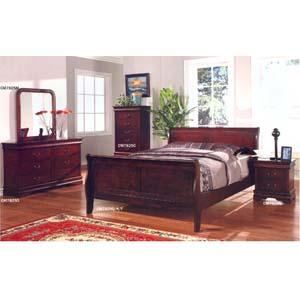 Dark Cherry Finish Bedroom Set CM7825_ (IEM)