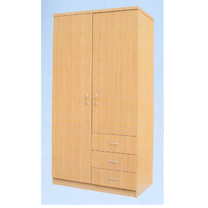 2 Door Wardrobe w/3 Drawers F5019 (TMCf)