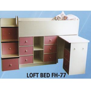 Custom Made Twin Loft Bed FH-77(CT)