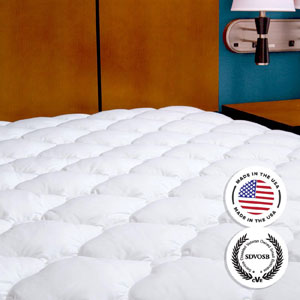 Five-Star Hotel Mattress Topper with Fitted Skirt (AZFS)