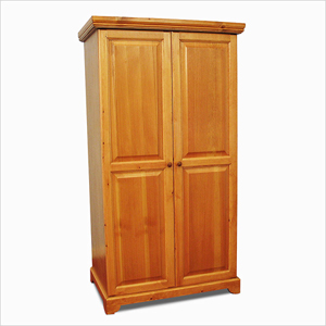 Solid Wood Wardrobe with 2 Raised Panel Doors 102_(GH)